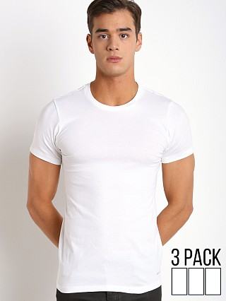Calvin Klein Cotton Classics Crew Neck Shirt 3-Pack White