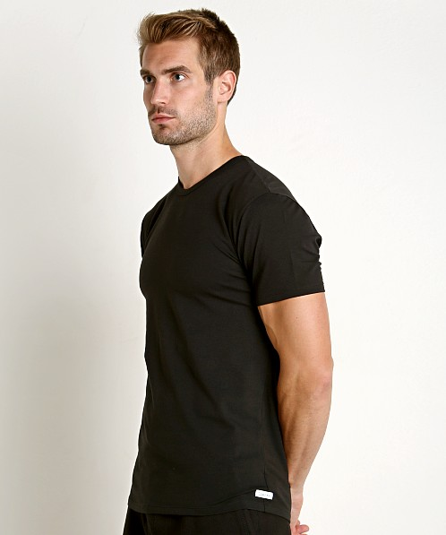 Calvin Klein Cotton Stretch Crew Neck Shirt 2-Pack Black