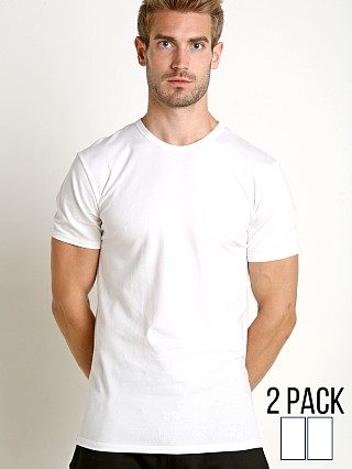 Complete the look: Calvin Klein Cotton Stretch Crew Neck Shirt 2-Pack White