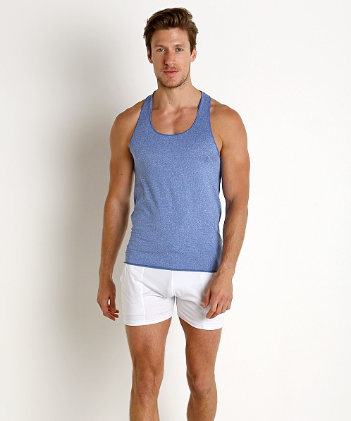 LASC Performance Fast Back Tank Top Heather Blue