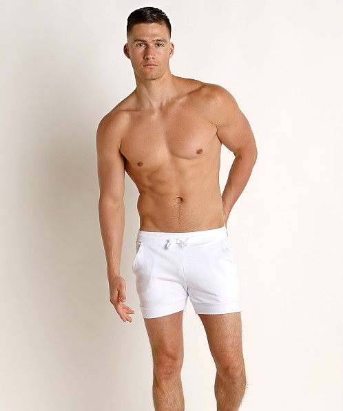 LASC French Terry Rugby Short White