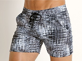 Complete the look: LASC Printed Performance Short Black-White City