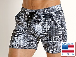 LASC Printed Performance Short Black-White City
