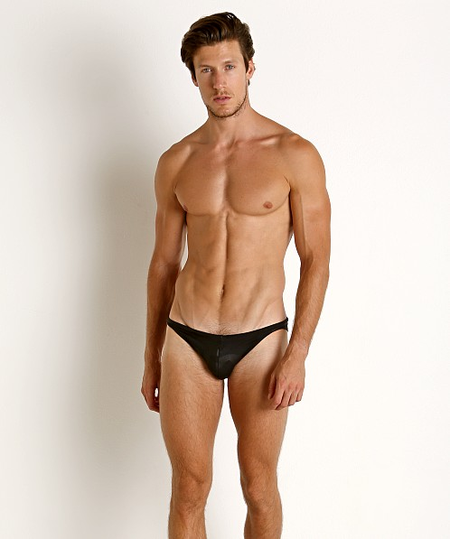 LASC Super Low Rise Swim Brief Black Camo