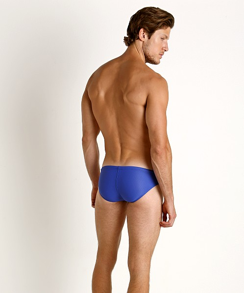 LASC St. Tropez Mesh Low Rise Swim Brief Royal