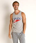 Speedo Vintage Logo Tank Top Heather, view 2