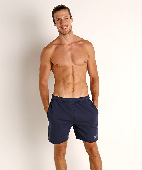 Speedo Fleece Workout Shorts Navy
