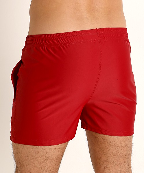 LASC Malibu Swim Shorts Burgundy