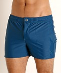 LASC Malibu Swim Shorts Teal, view 3