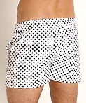 LASC Malibu Swim Shorts White/Black Polka Dots, view 4