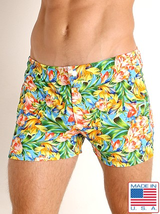 LASC Malibu Swim Shorts Summer Blooms