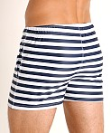 LASC Malibu Swim Shorts Navy Sailor Stripes, view 4