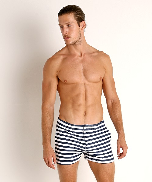LASC Malibu Swim Shorts Navy Sailor Stripes