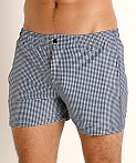 LASC Malibu Swim Shorts Black Gingham Checks, view 3
