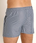 LASC Malibu Swim Shorts Black Gingham Checks, view 4