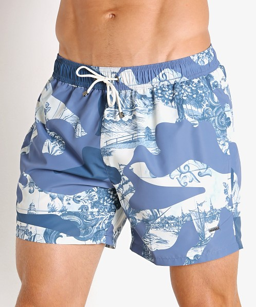 Hugo Boss Spotfish Swim Shorts Blue