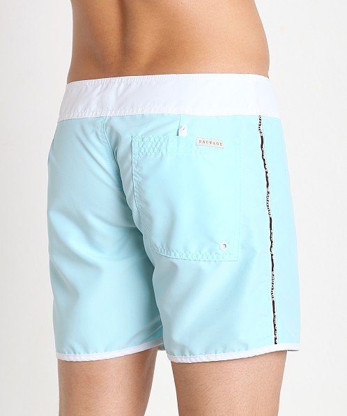 Sauvage Promenade Slim Fit Surf Short Aqua