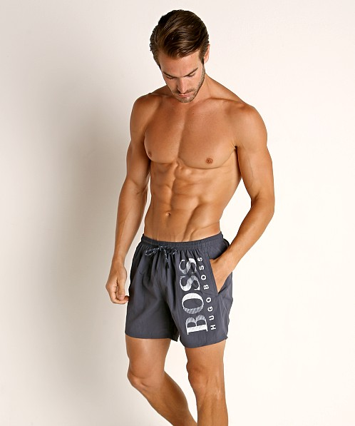 Hugo Boss Octopus Swim Shorts Charcoal