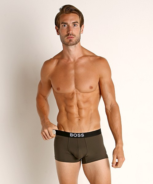 Hugo Boss Smooth Trunk Olive