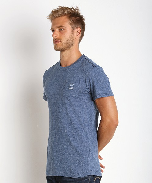 G-Star Classic Pocket T-Shirt Lt Aged Stripe