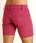 LASC Stretch Suede 5-Pocket Shorts Wild Orchid, view 4