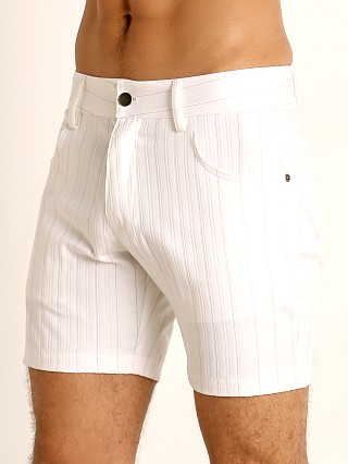 Complete the look: LASC Pinstriped Stretch Twill 5-Pocket Shorts White