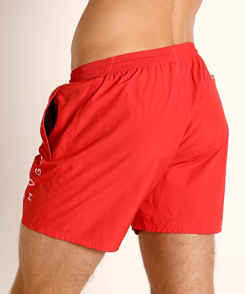 Hugo Boss Octopus Swim Shorts Red