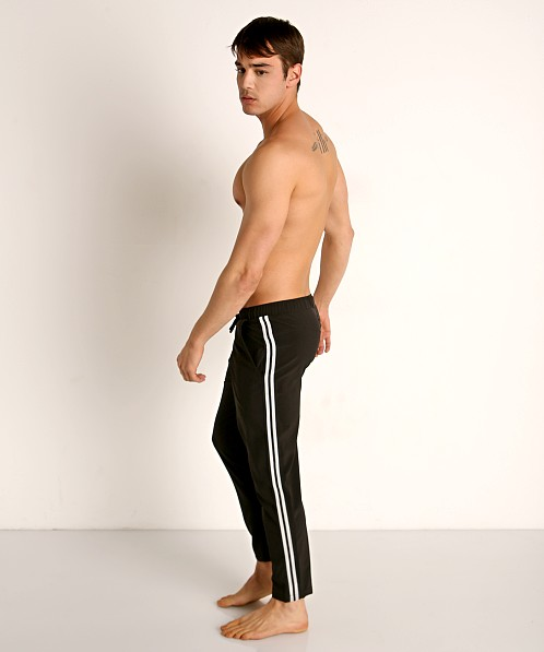 Sauvage Woven Lycra Athletic Pants Black