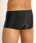 Sauvage Football Lace-up Swim Trunk Black/Cobalt, view 4