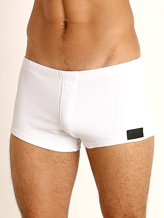 You may also like: Sauvage Pique Textured Square Cut Swim Trunk White