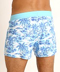Sauvage Retro Lycra Swim Short Sky Hawaii Print, view 4