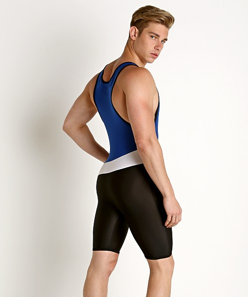 American Jock Sports USA Wrestling Singlet Royal Combo