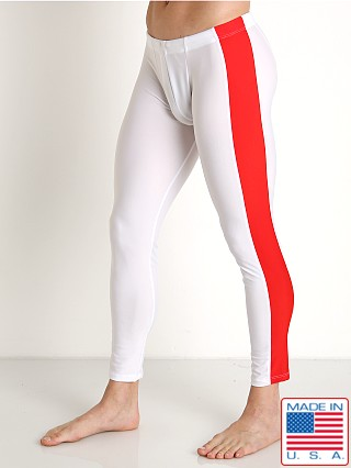 American Jock Sports Warm-Up Tights White Combo