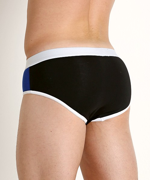 American Jock Sports Oval Pouch Briefs Black Combo