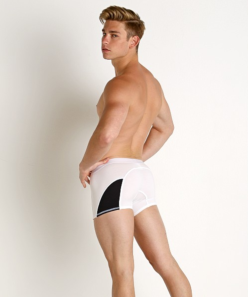 American Jock Sports Trunk White Combo