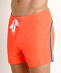 "Sundek 14"" Classic Low-Rise Boardshort Fluo Orange 8, view 3"