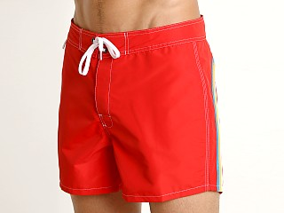 "Sundek 14"" Classic Low-Rise Boardshort Fire Red 5"