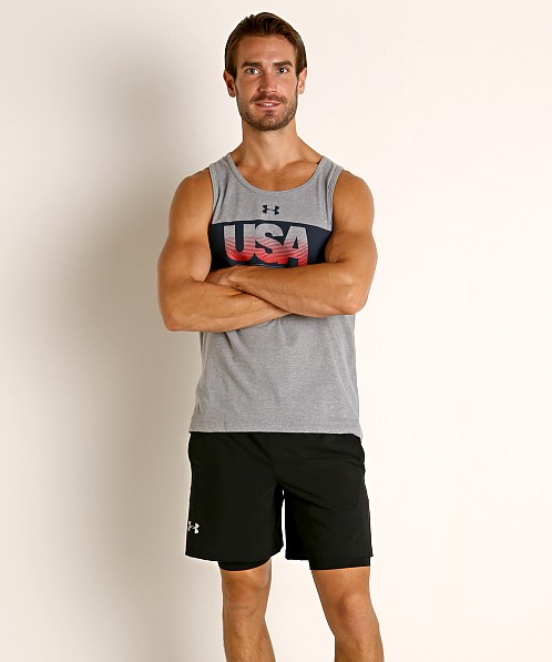 Under Armour Men's USA Tank Top Steel Light Heather