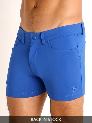 Model in royal LASC Retroactive Scouting Shorts