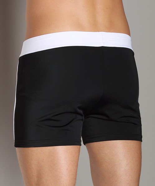 Sauvage Retro Nylon/Lycra Swim Short Black