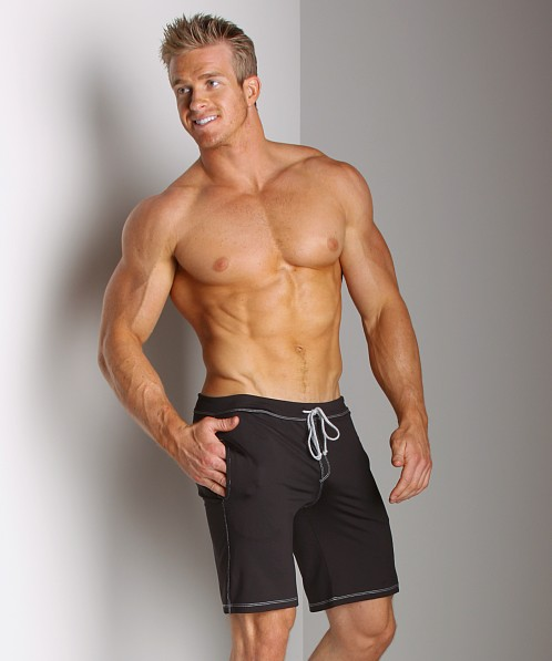 Sauvage Low Rise Nylon/Lycra Workout Short Black