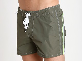 "Sundek 14"" Classic Low-Rise Boardshort Dark Army Green #3"