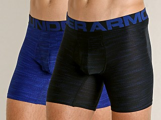 "Model in royal/academy Under Armour Mesh Pouch Tech 6"" Boxerjock 2-Pack"