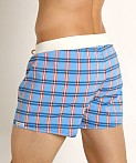 Sauvage Como Italia Plaid Swim Short Steel, view 4