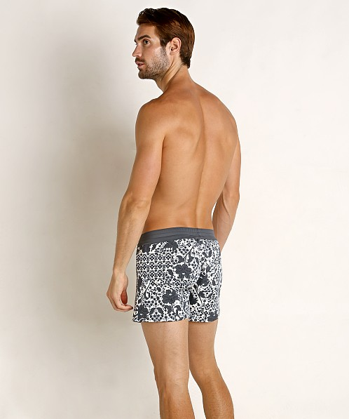 Sauvage Vintage Italia Print Swim Trunk Shades of Grey