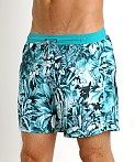 Hugo Boss Mandarinfish Swim Shorts Teal, view 3