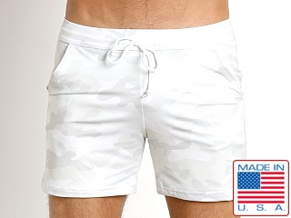 LASC White Party Camouflage Performance Short White