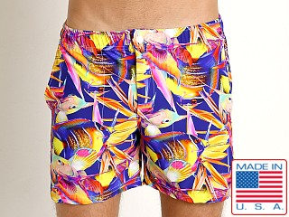 LASC Laguna Swim Shorts Magenta Fish