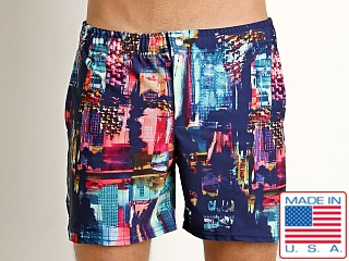 LASC Laguna Swim Shorts Abstract City