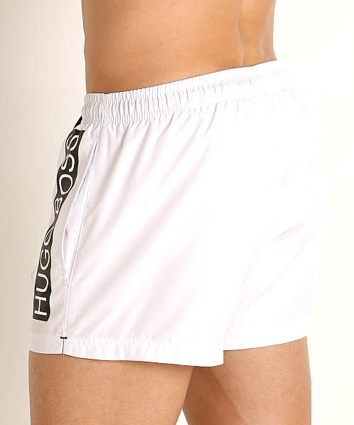 Hugo Boss Mooneye Swim Shorts White